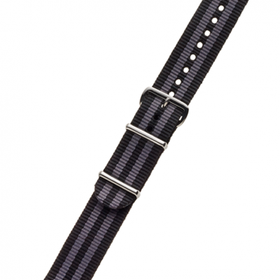 BLACK / BLUE NYLON STRAP