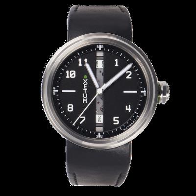 XLBK43L - Black dial, black leather strap