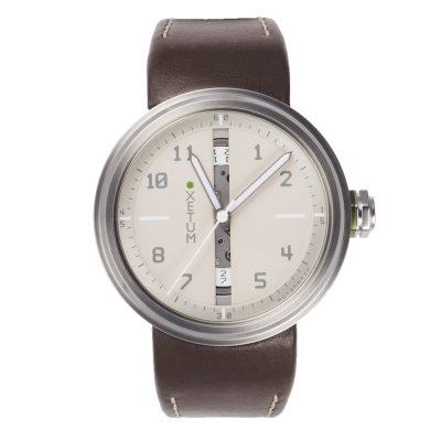 XLCR43L - Cream dial brown leather strap