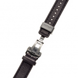 BLACK LEATHER STRAP WITH BLACK STITCHES
