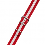 RED / WHITE NYLON STRAP