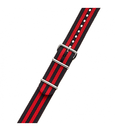 BLACK / RED NYLON STRAP