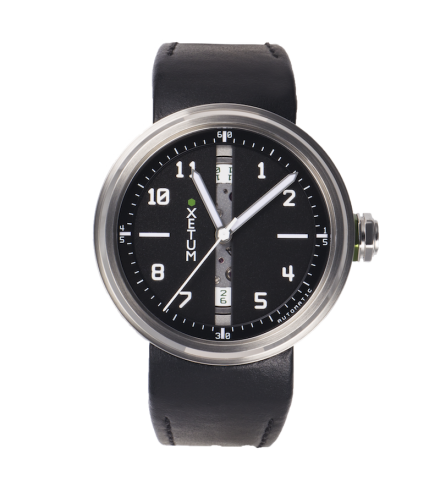 XLBK43L - Black dial, black leather strap